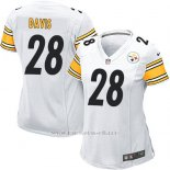 Camiseta Pittsburgh Steelers Davis Blanco Nike Game NFL Mujer