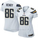 Camiseta San Diego Chargers Henry Blanco Nike Game NFL Mujer