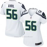 Camiseta Seattle Seahawks Avril Blanco Nike Game NFL Mujer
