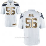 Camiseta Seattle Seahawks Avril Blanco Nike Gold Game NFL Hombre