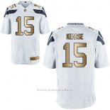 Camiseta Seattle Seahawks Kearse Blanco Nike Gold Game NFL Hombre