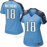 Camiseta Tennessee Titans Matthews Azul Nike Game NFL Mujer