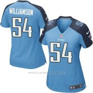 Camiseta Tennessee Titans Williamson Azul Nike Game NFL Mujer
