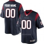 Camisetas NFL Replica Hombre Houston Texans Personalizada Azul