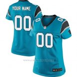Camisetas NFL Replica Mujer Carolina Panthers Personalizada Azul