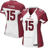 Camiseta Arizona Cardinals Floyd Blanco Rojo Nike Game NFL Mujer