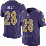 Camiseta Baltimore Ravens West Violeta Nike Legend NFL Hombre
