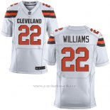 Camiseta Cleveland Browns Williams Blanco Nike Elite NFL Hombre