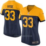 Camiseta Green Bay Packers Hyde Negro Amarillo Nike Game NFL Mujer