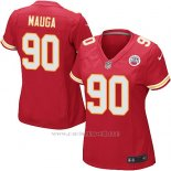 Camiseta Kansas City Chiefs Mauga Rojo Nike Game NFL Mujer