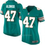 Camiseta Miami Dolphins Alonso Verde Oscuro Nike Game NFL Mujer