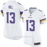 Camiseta Minnesota Vikings Hill Blanco Nike Game NFL Mujer