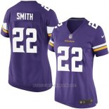 Camiseta Minnesota Vikings Smith Violeta Nike Game NFL Mujer