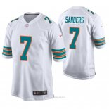 Camiseta NFL Game Hombre Miami Dolphins Jason Sanders Blanco Throwback