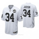 Camiseta NFL Game Hombre Oakland Raiders Bo Jackson 60th Aniversario Blanco