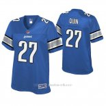 Camiseta NFL Game Mujer Detroit Lions Glover Quin Azul Historic Logo