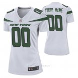 Camiseta NFL Game Mujer New York Jets Personalizada Game Blanco