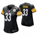 Camiseta NFL Game Mujer Pittsburgh Steelers Trey Edmunds Negro