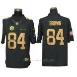Camiseta NFL Gold Limited Hombre Pittsburgh Steelers 84 Brown Negro