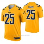 Camiseta NFL Legend Hombre San Diego Chargers 25 Melvin Gordon Inverted Oro