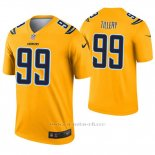 Camiseta NFL Legend Hombre San Diego Chargers 99 Jerry Tillery Inverted Oro