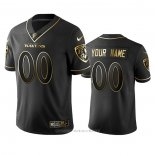 Camiseta NFL Limited Baltimore Ravens Personalizada Golden Edition Negro