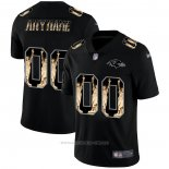 Camiseta NFL Limited Baltimore Ravens Personalizada Statue of Liberty Fashion Negro