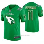Camiseta NFL Limited Hombre Arizona Cardinals Larry Fitzgerald St. Patrick's Day Verde