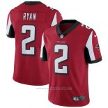 Camiseta NFL Limited Hombre Atlanta Falcons 2 Ryan Rojo