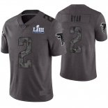 Camiseta NFL Limited Hombre Atlanta Falcons Matt Ryan Gris Super Bowl LIII