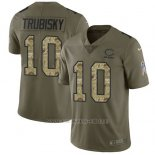 Camiseta NFL Limited Hombre Chicago Bears 10 Mitchell Trubisky Stitched 2017 Salute To Service