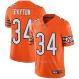 Camiseta NFL Limited Hombre Chicago Bears 34 Walter Payton Naranja Stitched Rush