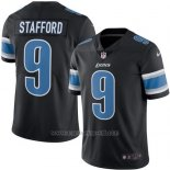 Camiseta NFL Limited Hombre Detroit Lions 9 Matthew Stafford Negro Stitched Rush