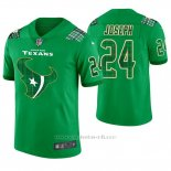 Camiseta NFL Limited Hombre Houston Texans Johnathan Joseph St. Patrick's Day Verde
