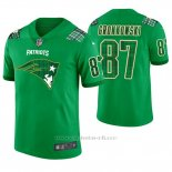 Camiseta NFL Limited Hombre New England Patriots Rob Gronkowski St. Patrick's Day Verde