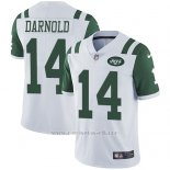 Camiseta NFL Limited Hombre New York Jets 14 Sam Darnold Blanco Stitched Vapor Untouchable