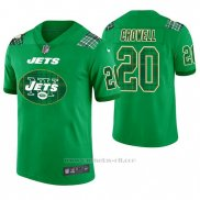 Camiseta NFL Limited Hombre New York Jets Isaiah Crowell St. Patrick's Day Verde