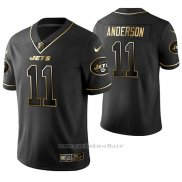 Camiseta NFL Limited Hombre New York Jets Robby Anderson Golden Edition Negro