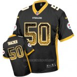 Camiseta NFL Limited Hombre Pittsburgh Steelers 50 Ryan Shazier Negro Stitched Drift Fashion