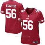Camiseta NFL Limited Mujer San Francisco 49ers 56 Foster Alternate Rojo