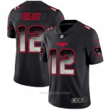 Camiseta NFL Limited New England Patriots Brady Smoke Fashion Negro