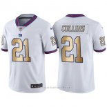 Camiseta New York Giants Collins Blanco Nike Gold Legend NFL Hombre