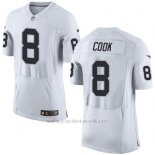 Camiseta Oakland Raiders Cook Blanco Nike Elite NFL Hombre