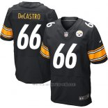 Camiseta Pittsburgh Steelers Decastro Negro Nike Elite NFL Hombre