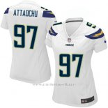 Camiseta San Diego Chargers AttaochuBlanco Mujer Nike Game NFL