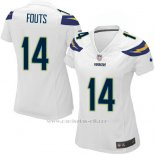 Camiseta San Diego Chargers Fouts Blanco Nike Game NFL Mujer