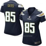 Camiseta San Diego Chargers Gates Negro Nike Game NFL Mujer