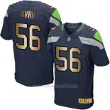 Camiseta Seattle Seahawks Avril Profundo Azul Nike Gold Elite NFL Hombre