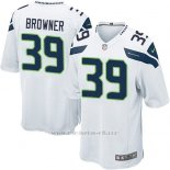 Camiseta Seattle Seahawks Browner Blanco Nike Game NFL Nino