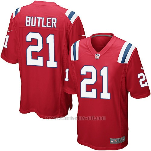 Camiseta New England Patriots Butler Rojo Nike Game NFL Hombre